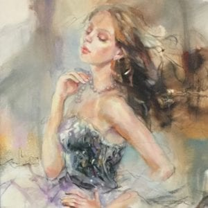 original portrait of a woman by Anna Razumovskaya