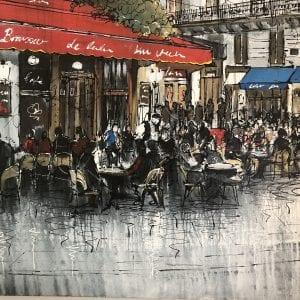 paul kenton original painting of paris
