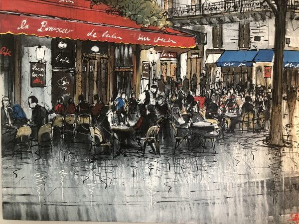 paul kenton original painting of paris