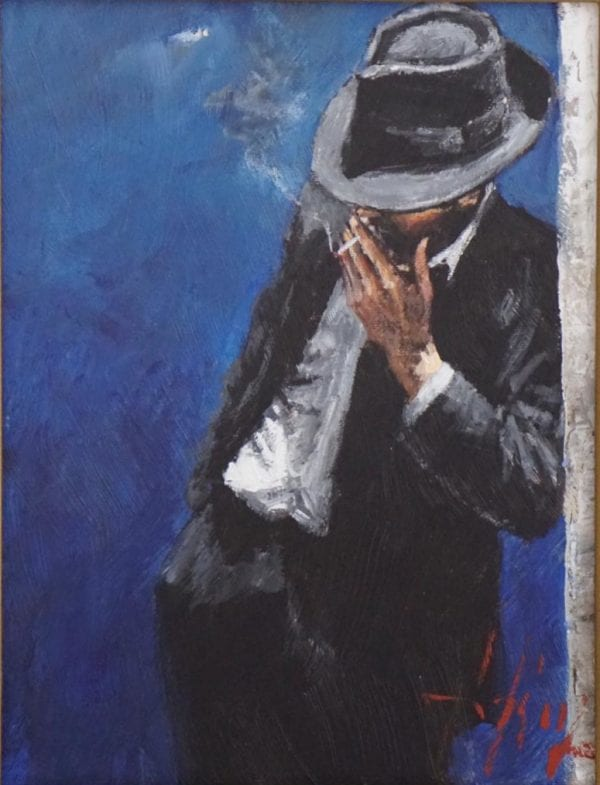 Man in Black Suit Fabian Perez original artwork on sale