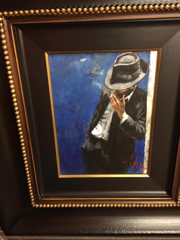 Fabian Perez Man In Black Suit Original Painting