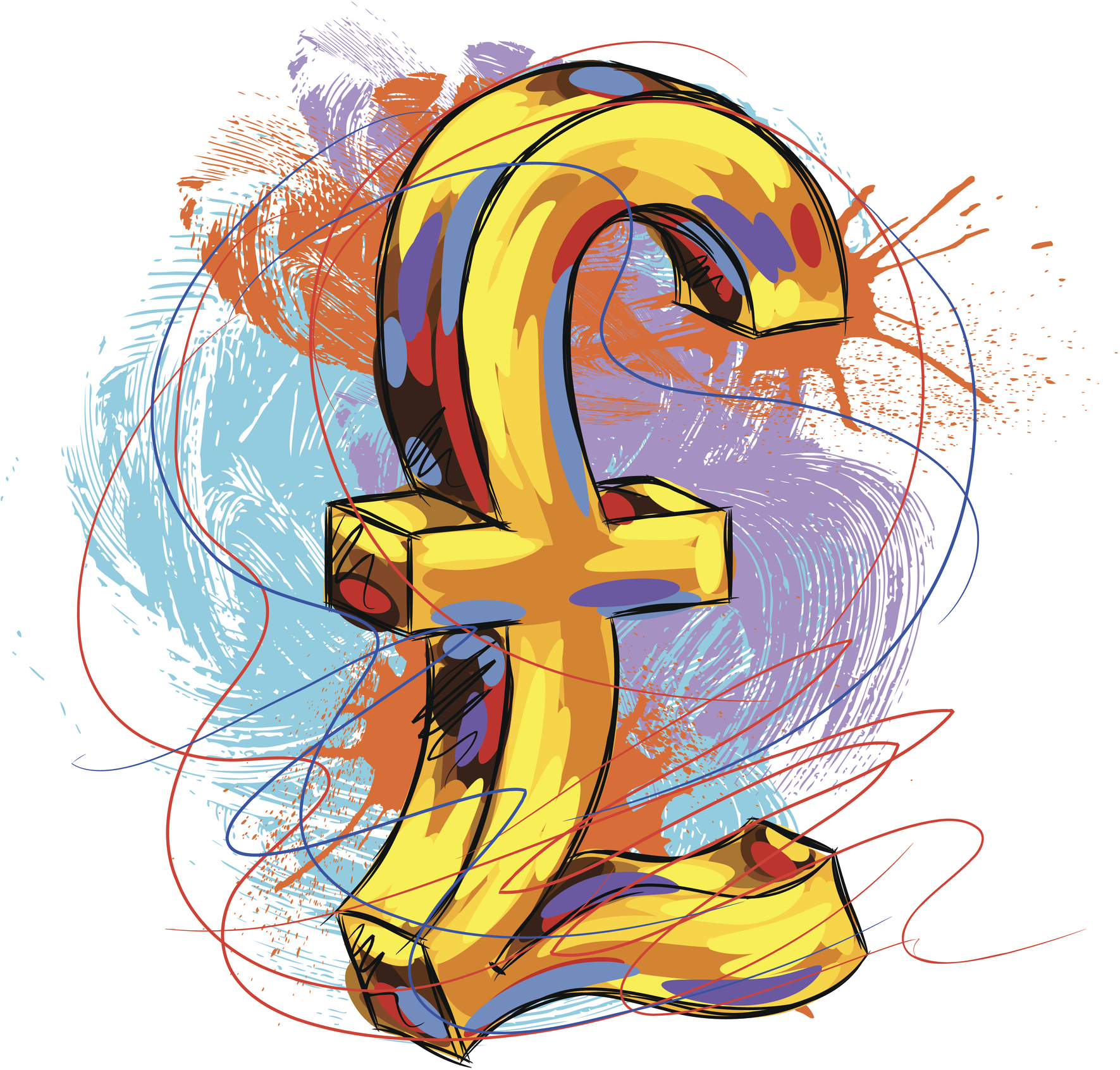 colourful pound sign