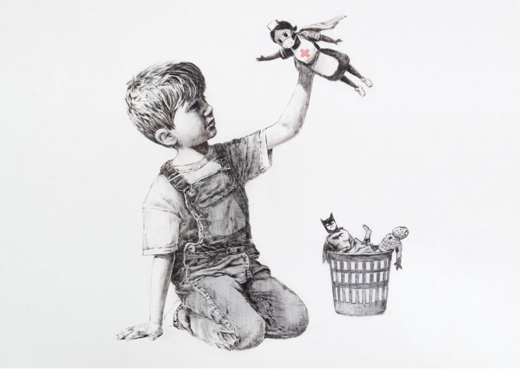 Game Changer original art by Banksy